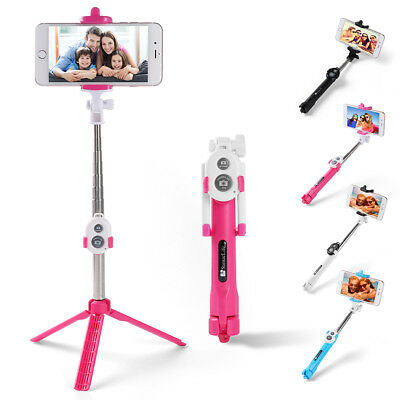 Extendable Selfie Stick Tripod  Wireless Remote Shutter For iPhone XS/ 8 Plus/ 8