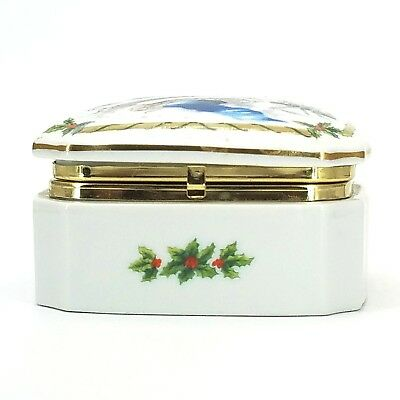 Vintage 1987 Music Box Jewelry Heritage House Melodies of Christmas Silent Night