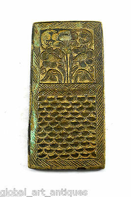 Rare Collectible Vintage Mughal Bronze Jewelery Stamp/Mold. G46-168