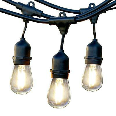 Brightech Ambience Pro Commercial Grade Outdoor Light Strand Hanging LED Black