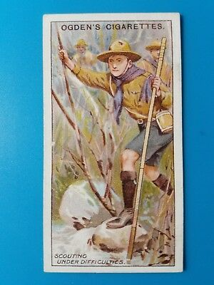 1929 Ogden's Boy Scout Tobacco card, No. 12, Scouting under Difficulties  EX-M