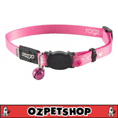 Rogz KiddyCat Cat & Kitten Collar - XS & S Sizes - Pink Hearts