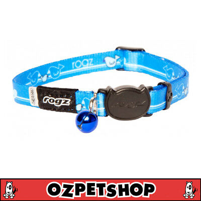 Rogz KiddyCat Cat & Kitten Collar - XS & S Sizes - Royal Birds