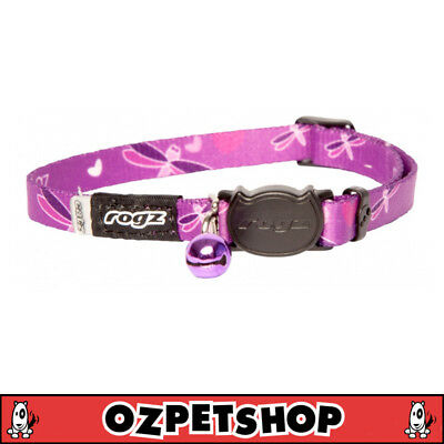 Rogz KiddyCat Cat & Kitten Collar - XS & S Sizes - Purple Dragonfly
