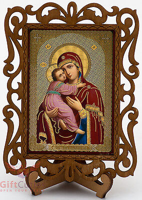 Virgin Mary Theotokos of Vladimir Владимирская Икона Б.М. Orthodox Icon Wood