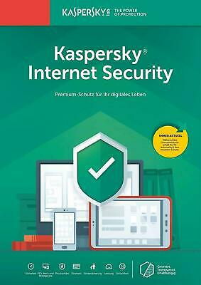 Kaspersky Internet Security 2020 / 2019 5PC Geräte 1Jahr Vollversion Key