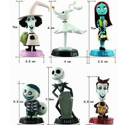 UK Nightmare Before Christmas Jack Skellington Action Figure Toy 6 full set