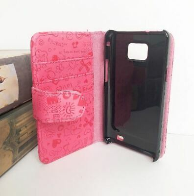 2X White Galaxy SII Case Wallet Flip Leather Cover For Samsung Galaxy S2 i9100