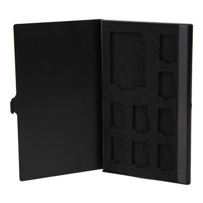 KD_ Monolayer Aluminum Alloy 1SD 8TF Cards Micro Memory Case Storage Box Holde