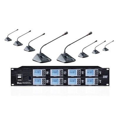 Gooseneck Conference Microphone 8 channels UHF Wireless Stage Microphone Mics