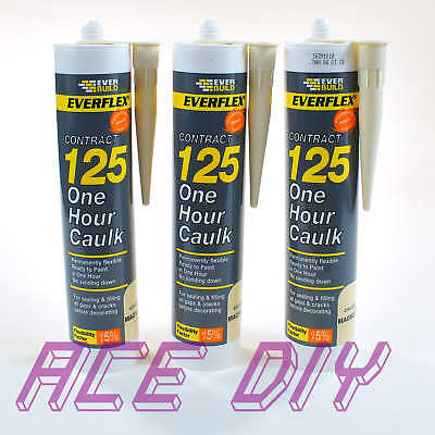 Everbuild Magnolia 125 One Hour Caulk C3 | Fast Drying Sealant Choose Pack Size