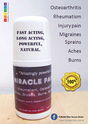 2 X DMSO/MAGNESIUM oil pain reliever, arthritis, joint pain ROLL-ON 50ml