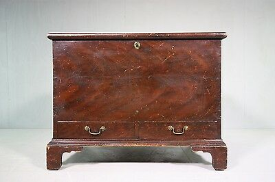 Superb Georgian Antique Pine Mule Bedding Box