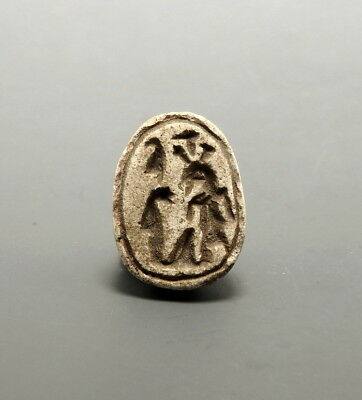 Egyptian Steatite Scarab Amulet With Hieroglyphs Of Ramessu Ii (L728)