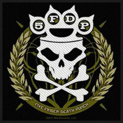 Five Finger Death Punch Knuckles Crown (Official Patch) (100x100mm)
