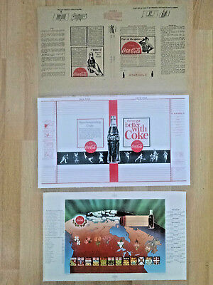3 lot Coca-Cola  BOOK COVERS - NOS- HTF-1930's-1960's-Dust Jackets-1 Canada