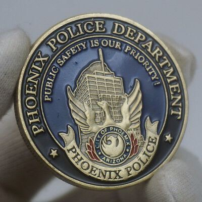 US City of Phoenix Police Department St. Michael Challenge Coin