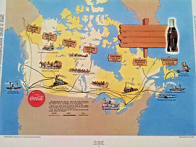 Coca-Cola  BOOK COVER - NOS - HTF -Dust Jackets- Canada-Time Zones