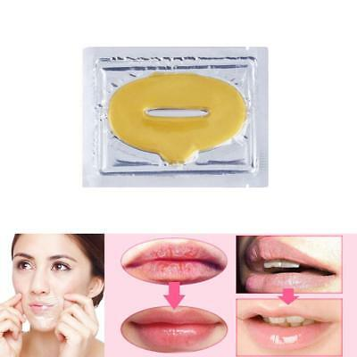 5X Gold Crystal CollagenLip Mask Patch Anti Ageing Wrinkle Moisturising Lips OP