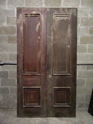 ~ ANTIQUE DOUBLE ENTRANCE FRENCH DOORS  ~ 52 x 95 ~  ARCHITECTURAL SALVAGE