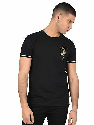 Tee shirt patch rose dorée et manches bicolores Homme Project X Paris