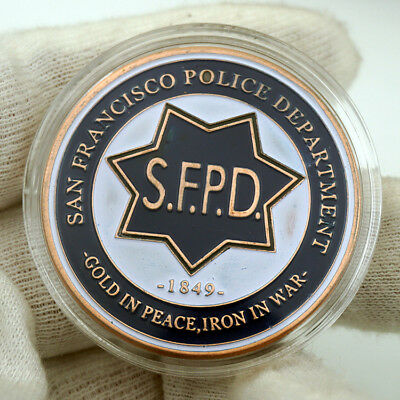 US City of San Francisco S.F.P.D.Police Department St. Michael Challenge Coin