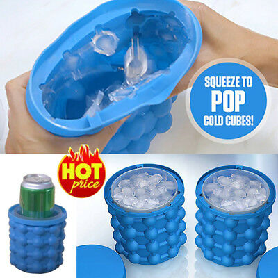 HOT Ice Cube Maker Genie The Revolutionary Space Saving Ice Cube Maker Ice Genie