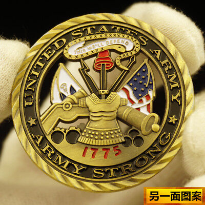 US Army / Core Values Collectible Army Challenge Coin Army Strong 1775 usa