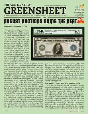 GREENSHEET: 1 Year Subscription Currency Dealer Newsletter (with FREE Issue)