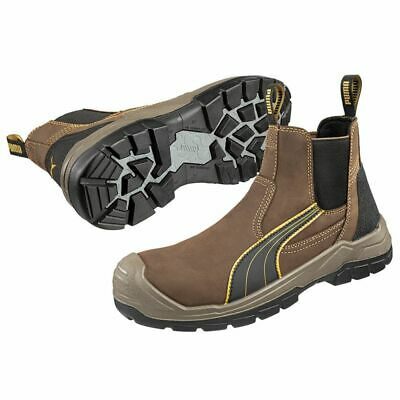 New PUMA Safety Tanami Brown Scuff Cap Range Slip On Footwear Men s Work  Boots 808c4d7b1