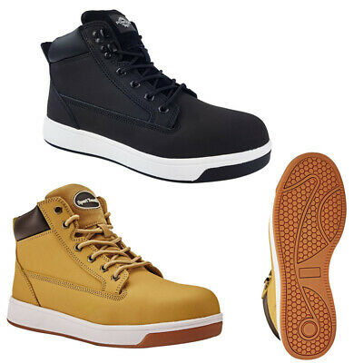 Men's High Top Safety Work Boots Mid Sole Steel Toe Cap Shoes Trainers Hiker