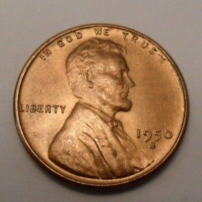 1950 S Lincoln Wheat Cent / Penny Coin   *FINE OR BETTER*  **FREE SHIPPING**