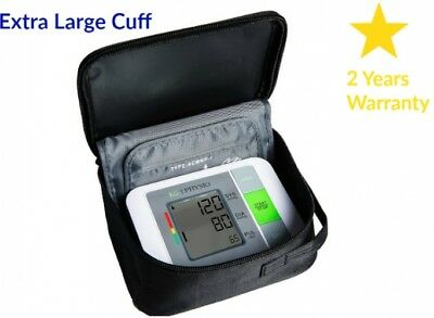 Blood Pressure Monitor Machine Upper Arm BP Monitor AC Adapter Carry Free Case