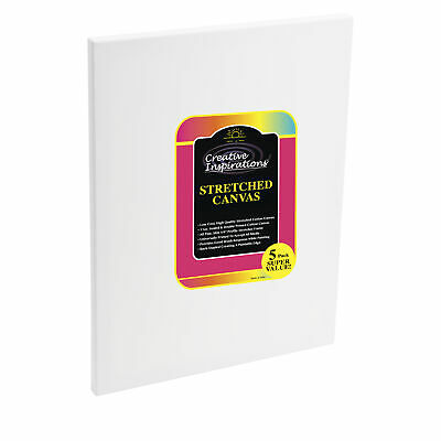 Creative Inspirations 5/8in Deep Cotton Stretched Canvas Artist 5 Packs