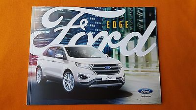Ford Edge Zetec Titanium Sport Paper Brochure Sales Catalogue January  Mint