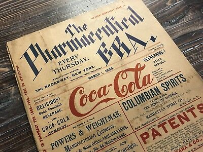 The Pharmaceutical Era Magazine - March 1, 1900 Early COCA-COLA Advertisement