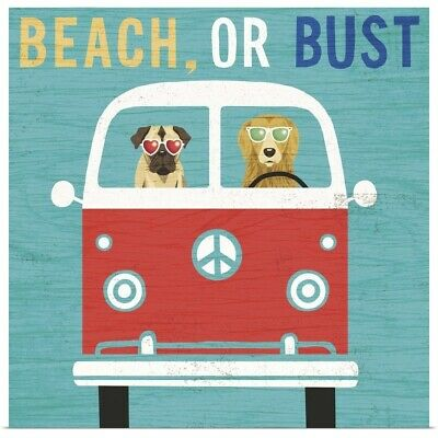 Poster Print Wall Art entitled Beach Bums Bus