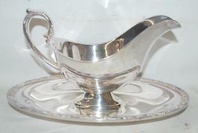 PRIMROSE PATTERN Rogers & Bros Gravy Sauce Boat Dish Bowl Silver Plate #2313 ~SS