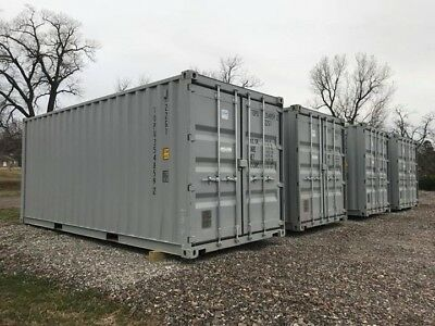 "20ft New ""one-trip"" shipping container Gray.  Free local delivery."