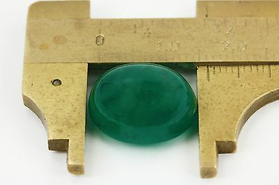 13.45 Cts Cabochon oval Natural Colombian Emerald Loose Dark Green Gemstone