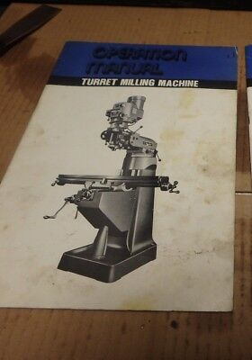 South Bend Lathe Turret Milling Machine Operator's Manual