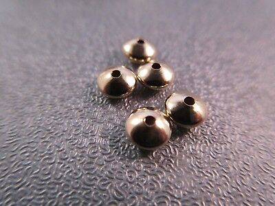 14K Gold Filled Seamless 4mm Saucer Bead Spacer 5pcs