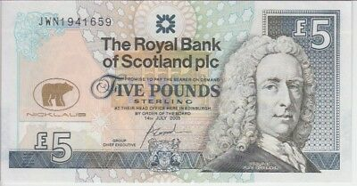 Scotland Banknote Royal Bank P365 5 Pounds Jack Nicklaus Commemorative, UNC