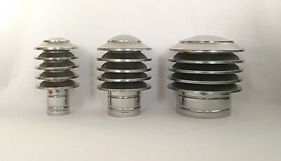 CHIMNEY COWL Anti Down Draught Stainless Steel Flue Pipe Cap, Vent, Top, Cover