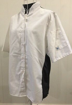 Women's Fitted Cook Cool by Happy Chef black/gray Chef's coat size Med