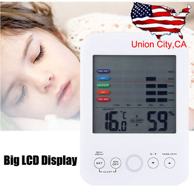 LCD Digital Indoor Outdoor Temperature Humidity Meter Thermometer Hygrometer NEW