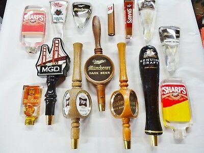 VINTAGE COLLECTION Of Beer Tap Handles, Signs, Knobs, Old School ...