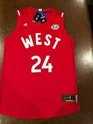Kobe Bryant  24 Los Angles Lakers 2016 All Star Stitched Red Large Jersey -  NWT 2174f4942