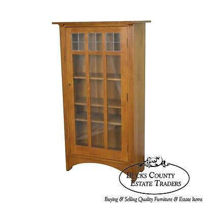 Stickley Mission Oak Collection Single Door Bookcase (A)