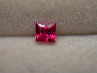 rare red RUBY gem Tanzanian Princess gemstone Tanzania LIVELY FLUORESCENT sq20